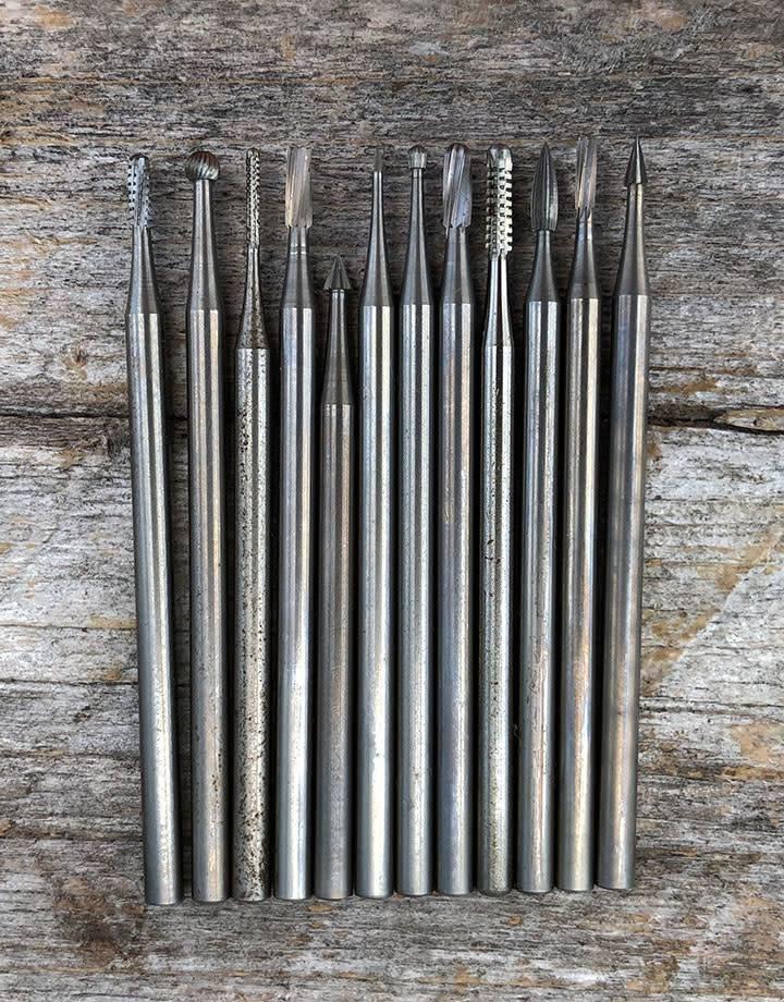 BR9300 = Wax Bur Set (12pcs) Small Size