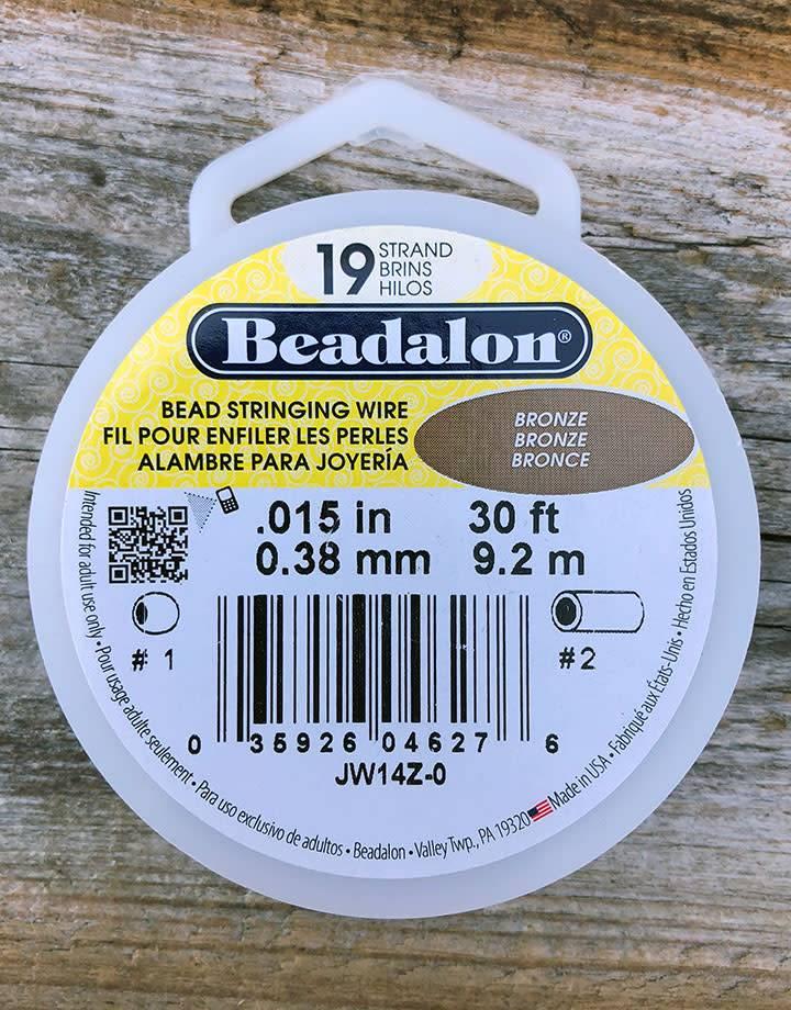 CD41915BR = Beadalon 19  .015''  Bronze 30ft Spool