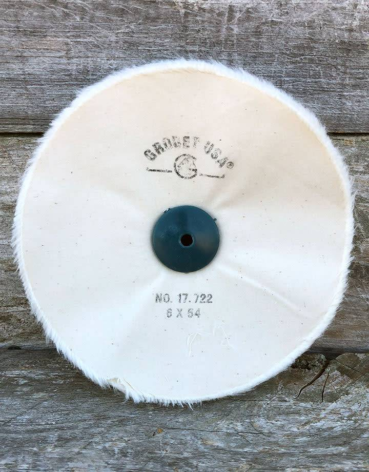 Grobet USA 17.722 = BUFF - FINEX 6'' UNSTITCHED WITH PLASTIC CENTER
