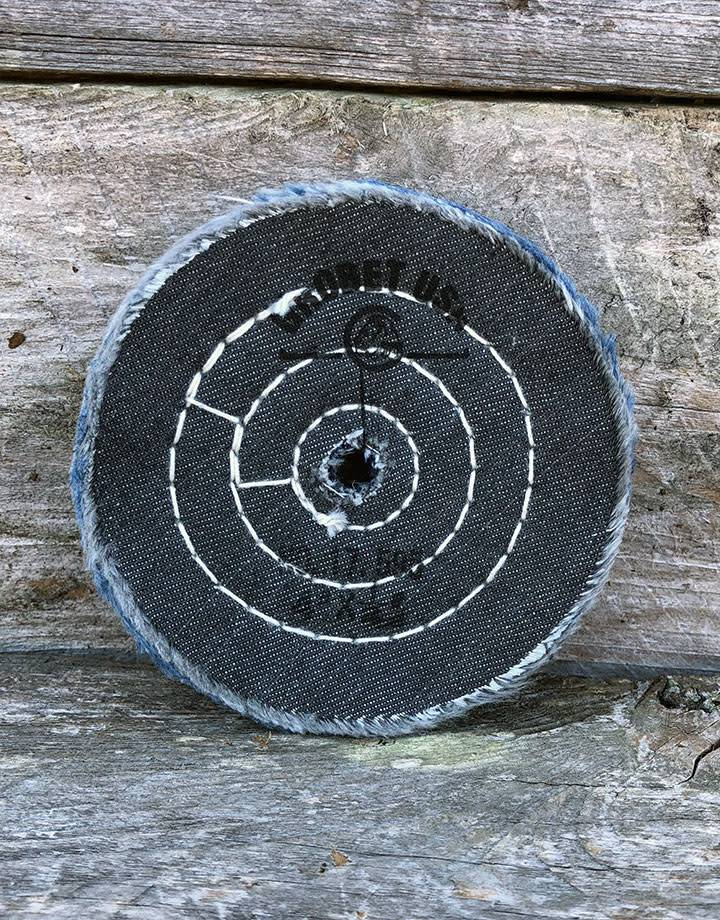 Grobet USA BF7595 = Denim Buffing Wheel 4'' - Recycled Material