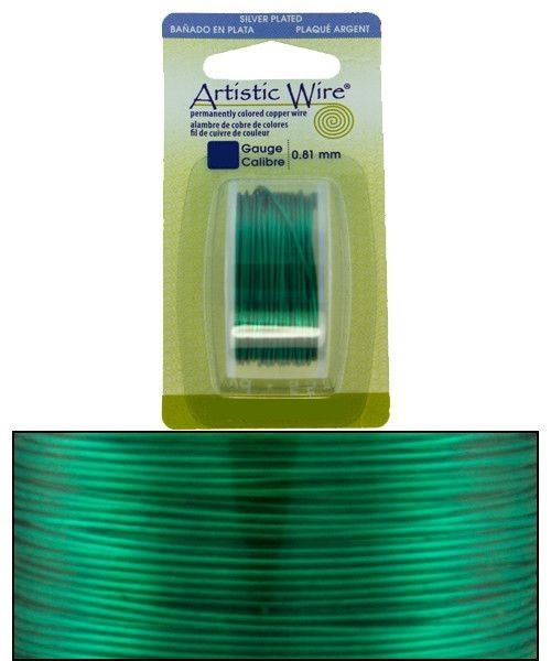 WR26324 = Artistic Wire Dispenser Pack SP XMAS GREEN 24ga 10 YARD