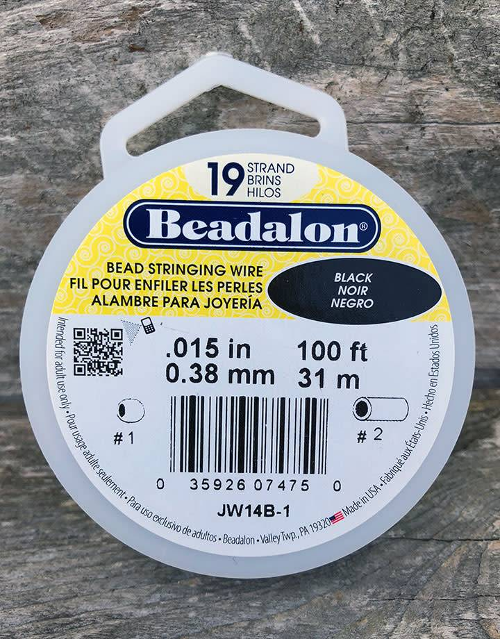 CD41915B-100 = BEADALON 19  .015'' 100 FT SPOOL BLACK