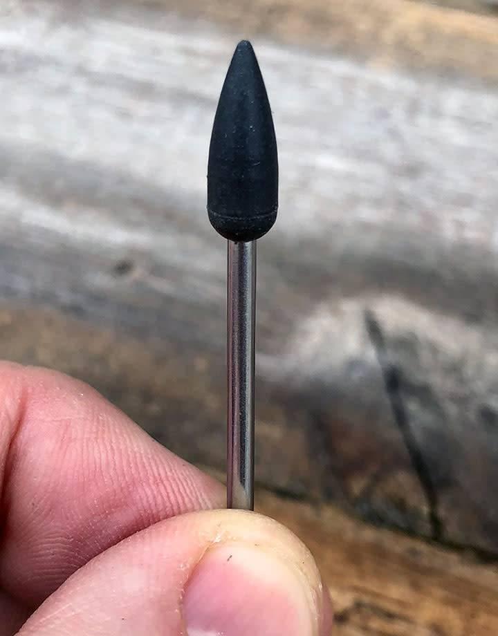 EVE Abrasives ST4281 = Mounted Silicone Point 5.5x15mm Medium Black (Pkg of 5)
