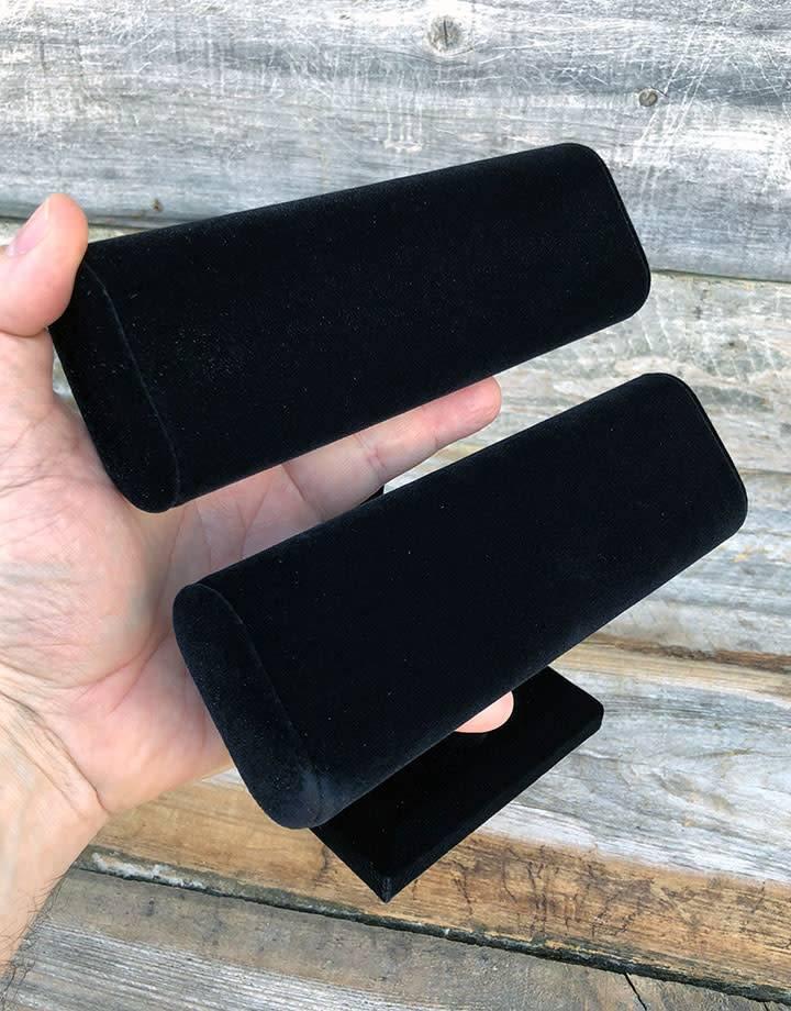 DBR1196 = Bracelet T-Bar Double Oval Black Value Velvet