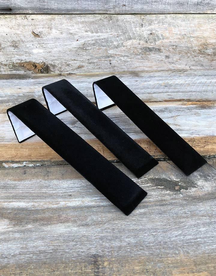 DBR1239 = Black Value Velvet Single Bracelet Ramp 1-1/2'' x 7-3/4'' (Pkg of 3)