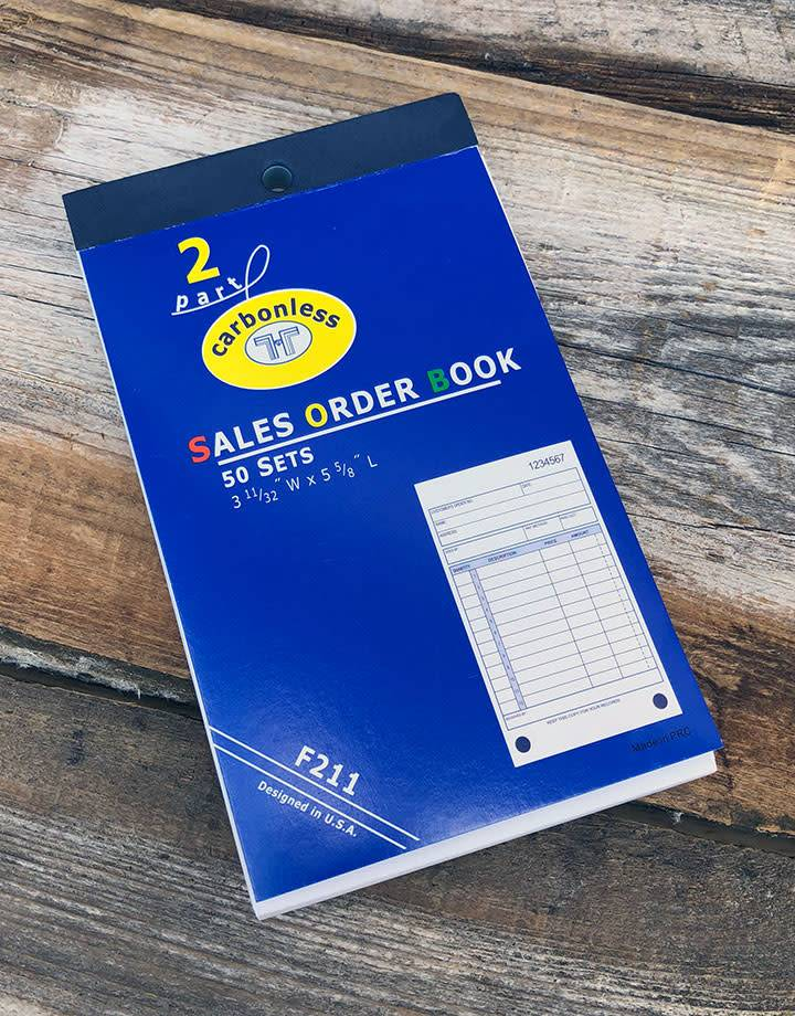 DIS3811 = RECEIPT BOOK - 50pgs - APPROX. 5''x3'' - 15 lines