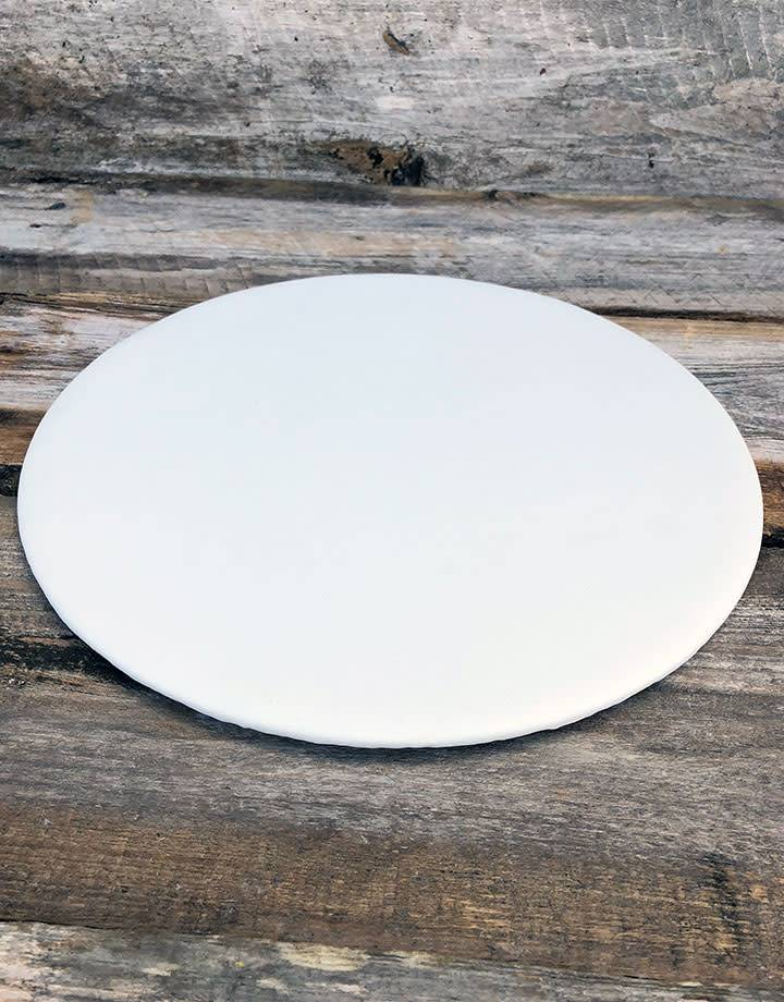 DIS6319 = White Leatherette Round Display Pad 11''