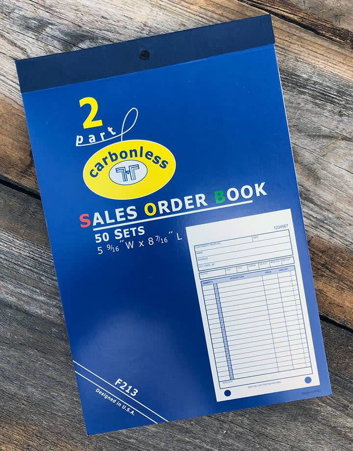 DIS3813 = RECEIPT BOOK - 50pgs - APPROX. 8''x5'' - 20 lines