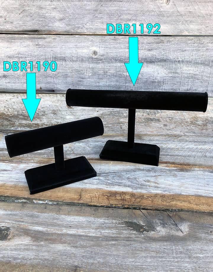 DBR1190 = Black Value Velvet Bracelet T Bar 7''W x 5''H
