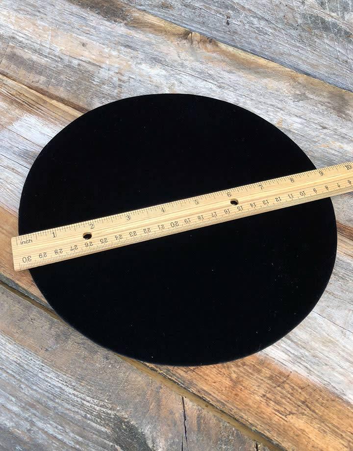DIS1318 = Black Value Velvet Round Display Pad 9''