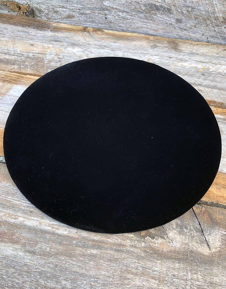 Black Value Velvet Oval Display Pad 5/'/' x 9/'/' DIS1313