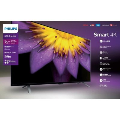 Philips 75-Inch, PHILIPS, LED, HDR, 4K, Smart, 75PFL5603/F7