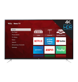 TCL NEW! 65-Inch, TCL, LED, HDR, 4K, Smart, 65S423
