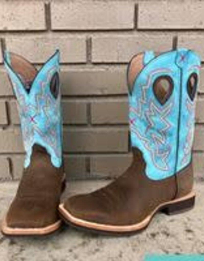 e2af5cb6fc0 Twisted X Mens Horseman Crazy Horse Blue Twisted X Boot