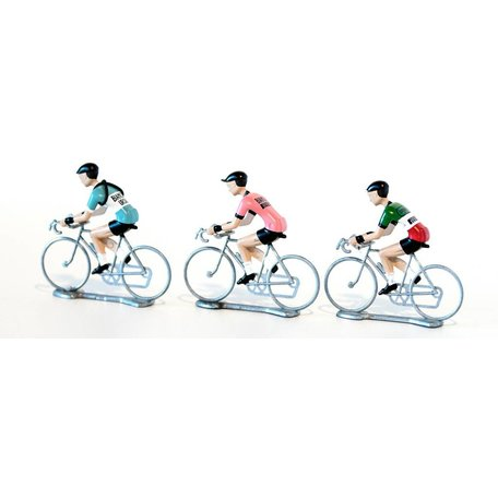 Flandriens Hand Painted Metal Cyclists - 3-Pack
