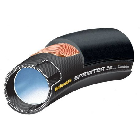 "Continental Sprinter Tubular 28"" X 25mm Black-BW + Black Chili"