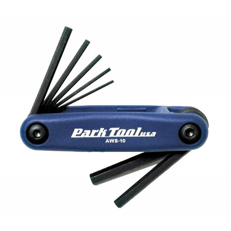 Park Tool, AWS-10, Folding hex wrench set, 1.5mm, 2mm, 2.5mm, 3m, 4mm, 5mm and 6mm