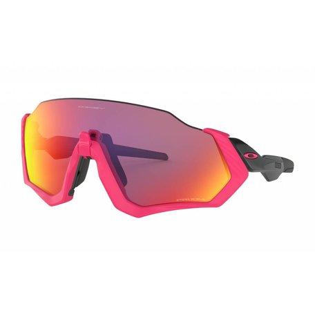 OAKLEY Flight Jacket - Neon Pink w/Prizm Road