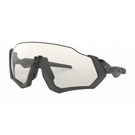 Oakley Flight Jacket - Steel/Black Ink| LENS:Clear Black Iridium Photochromic