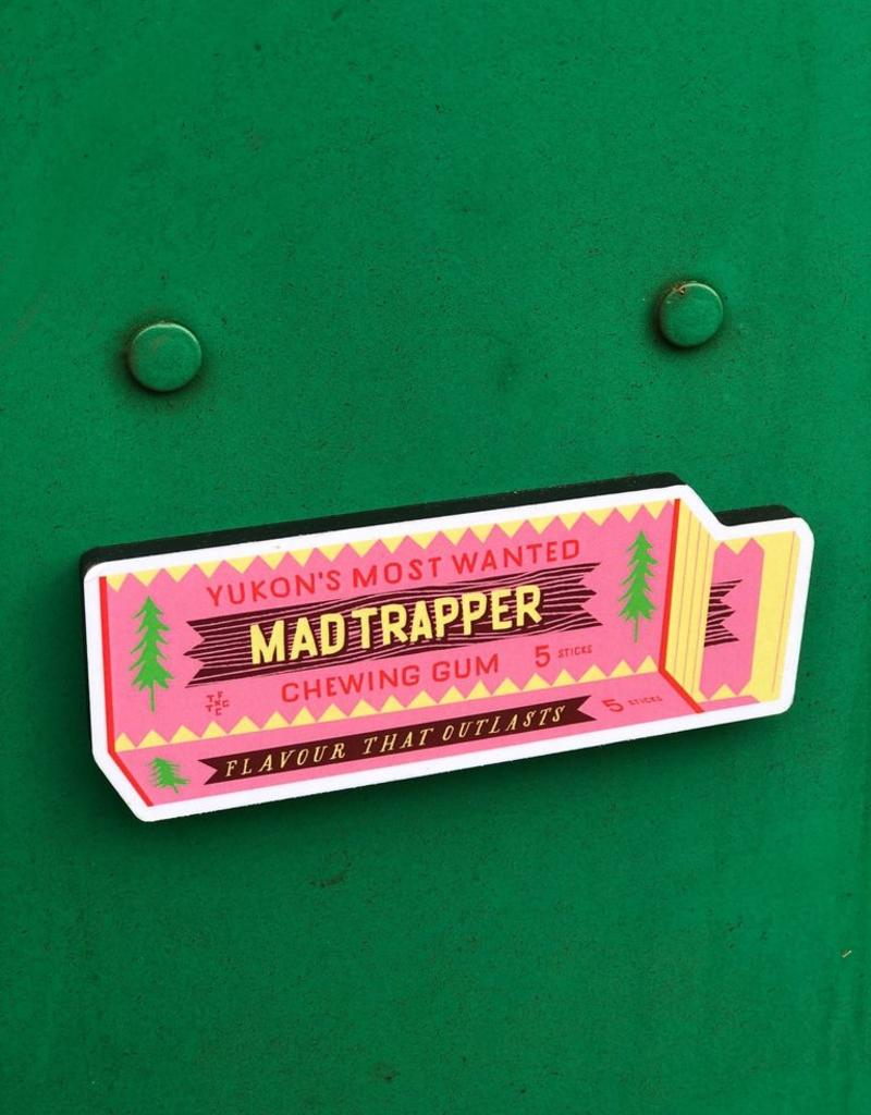 Mad Trapper Gum Magnet