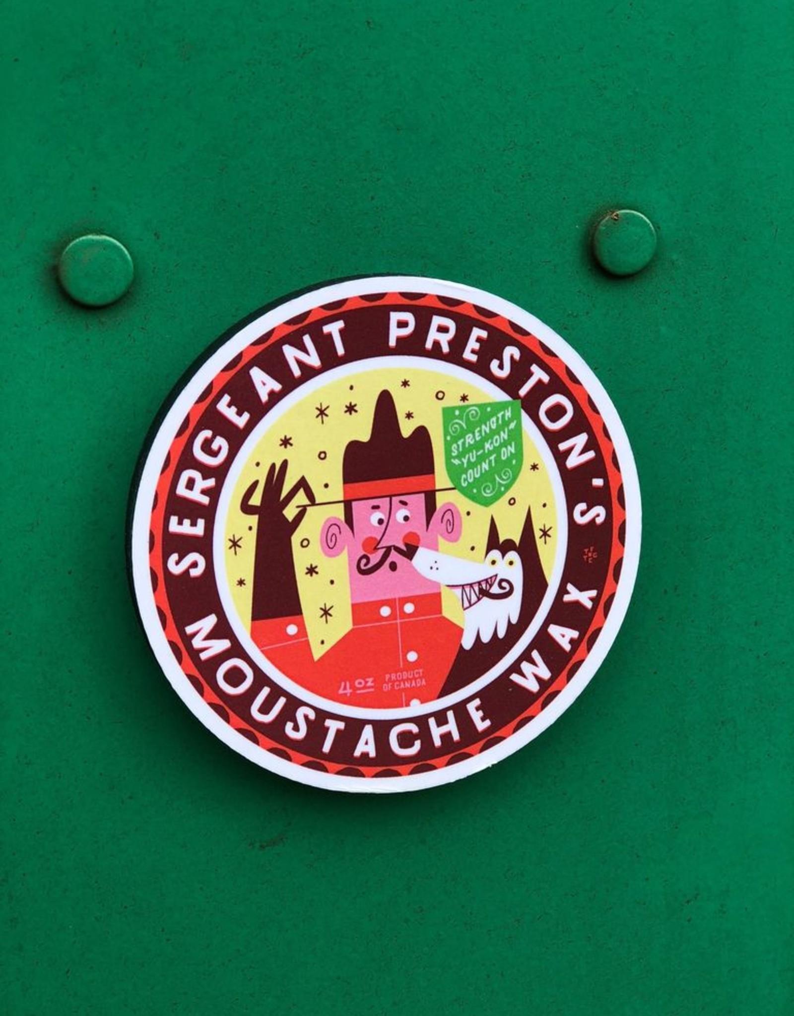 Sergeant Preston's Moustache Wax Magnet