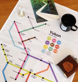 Route Map Tea Towel
