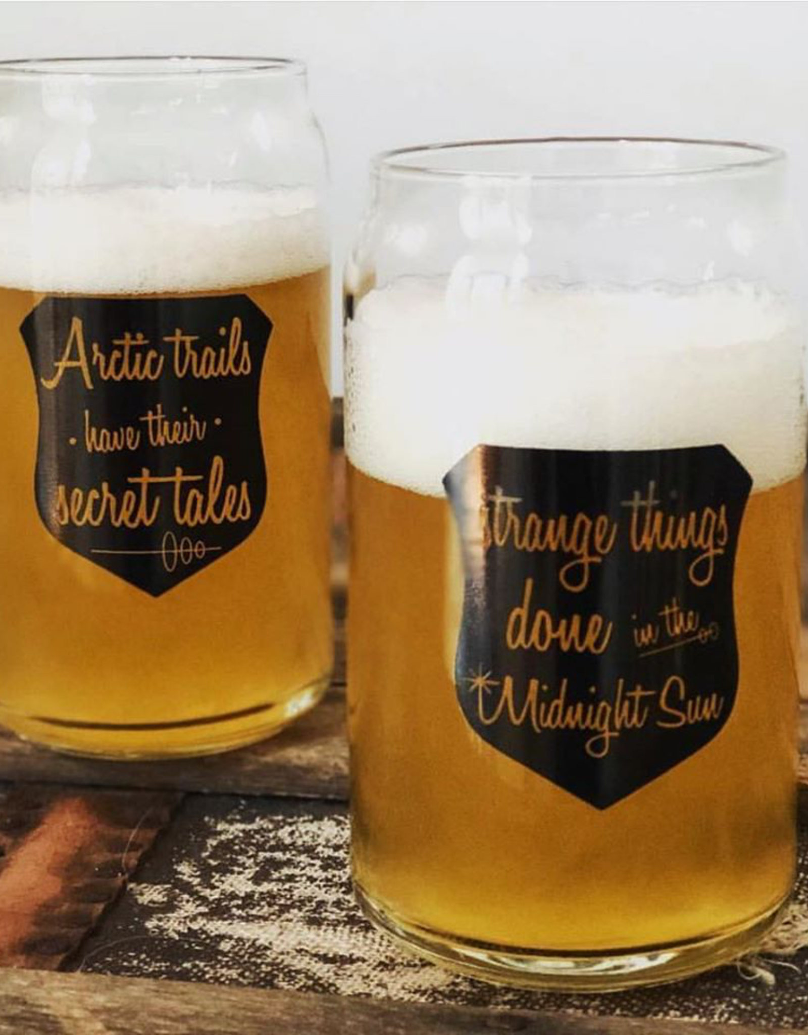 Strange Things Done Beer Glass