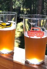 Yukon Snowmobile Beer Glass