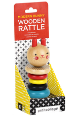 Modern Bunny Wood Rattle
