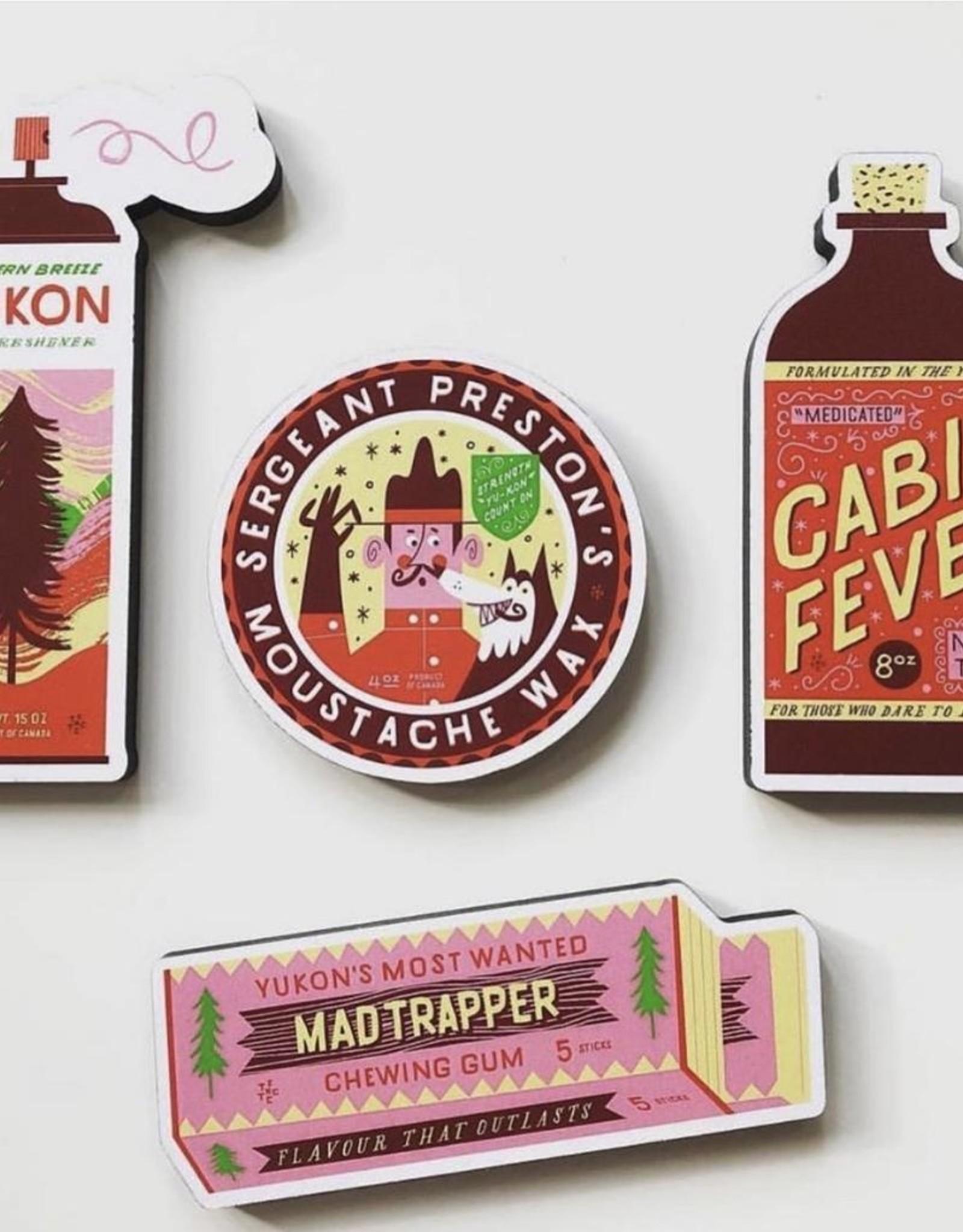 Mad Trapper Gum Magnet