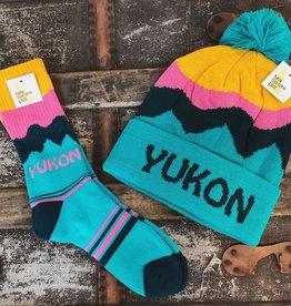 Yukon Toque Socks-Pink
