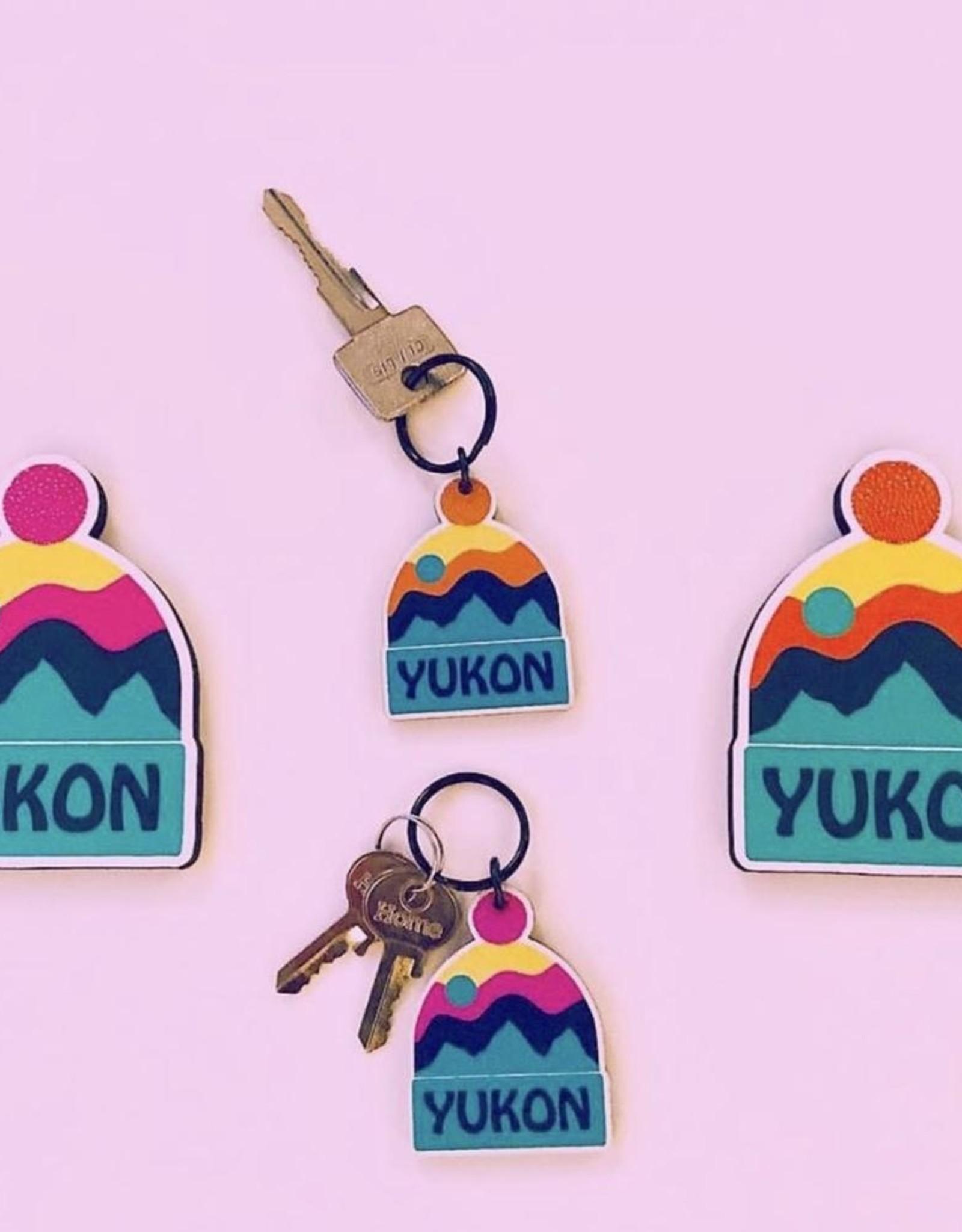 Yukon Toque Keychain-Pink