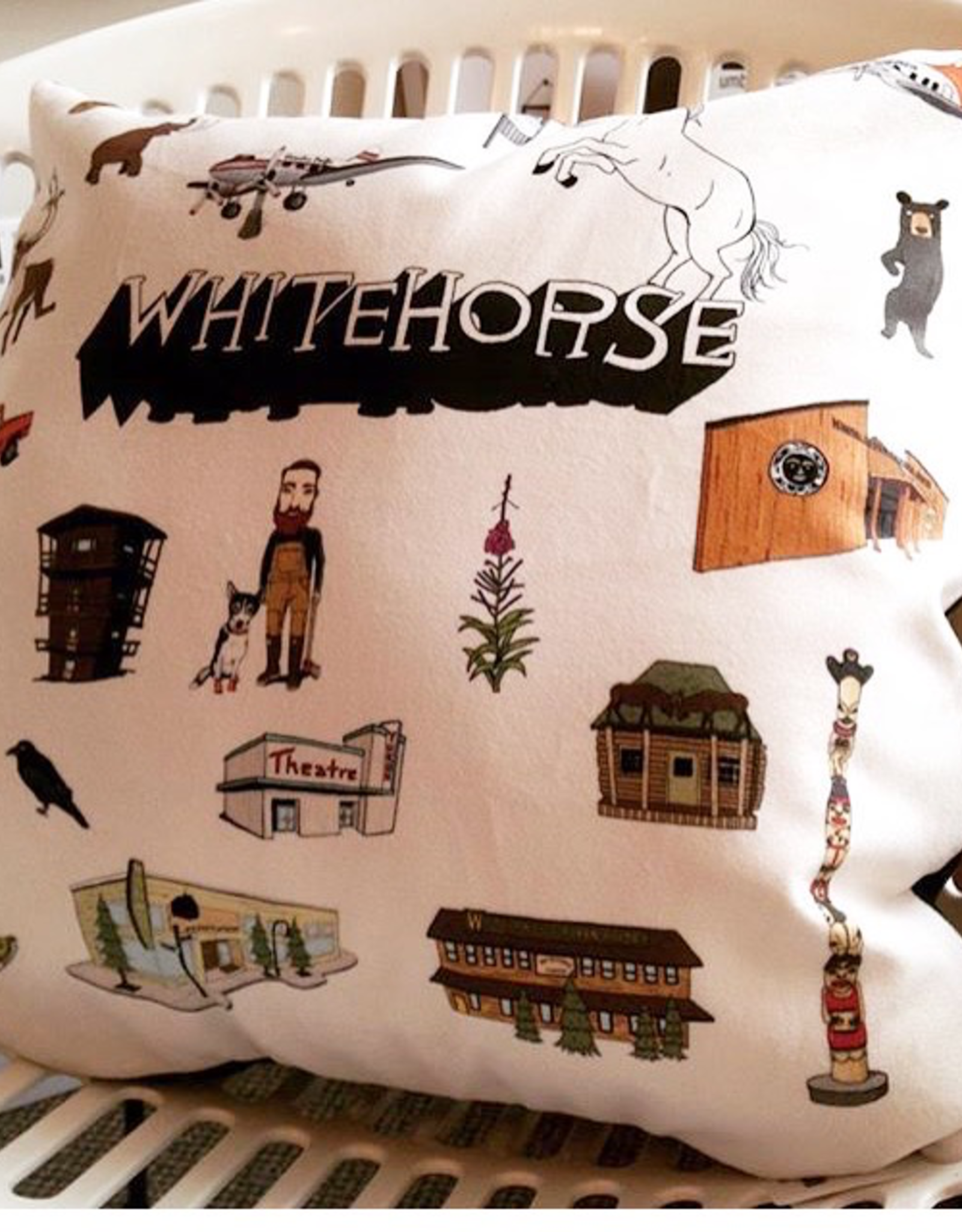 Whitehorse Landmarks Pillow