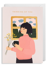 Thinking Of You Girl Card