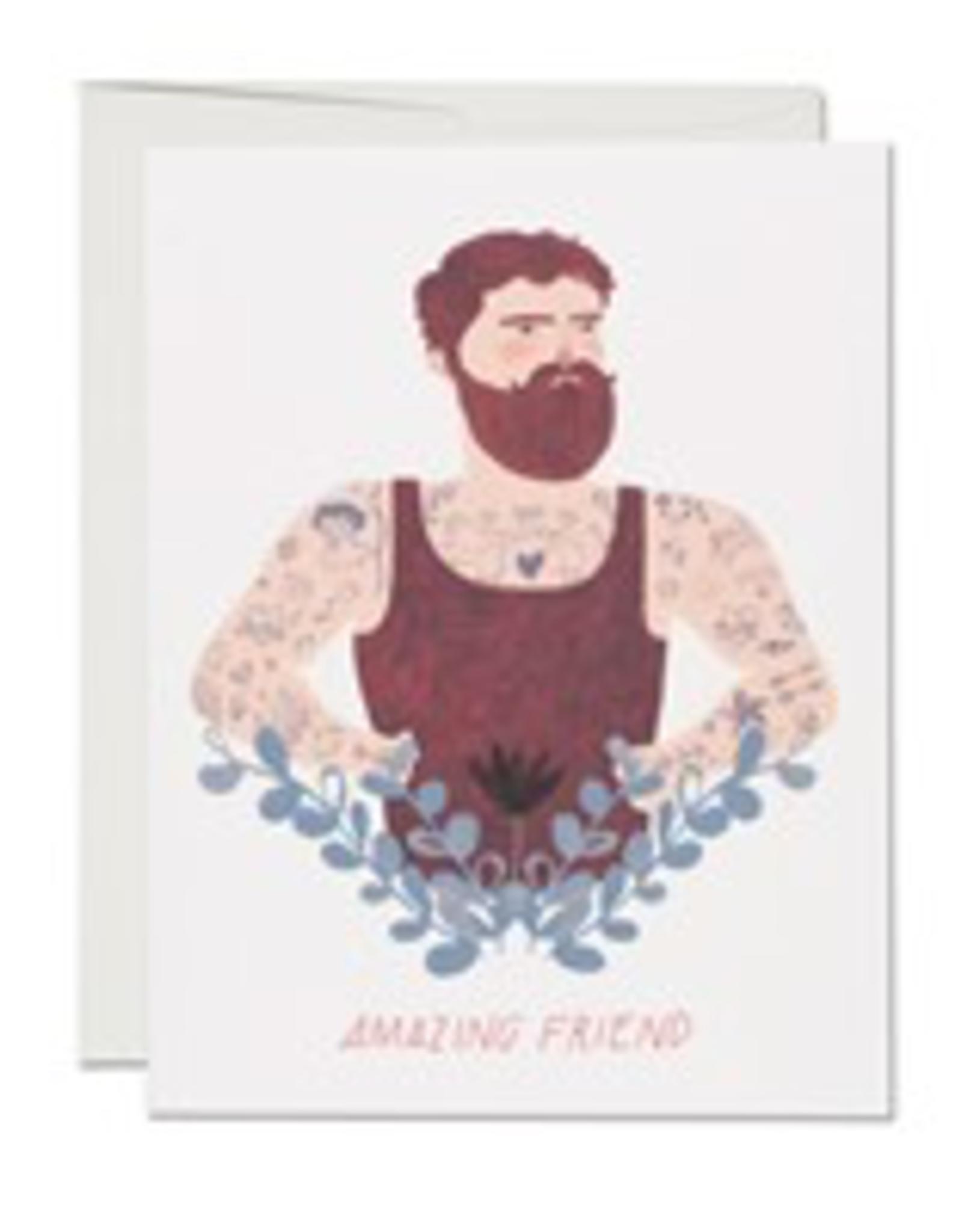 Bearded Friend Friendship Card