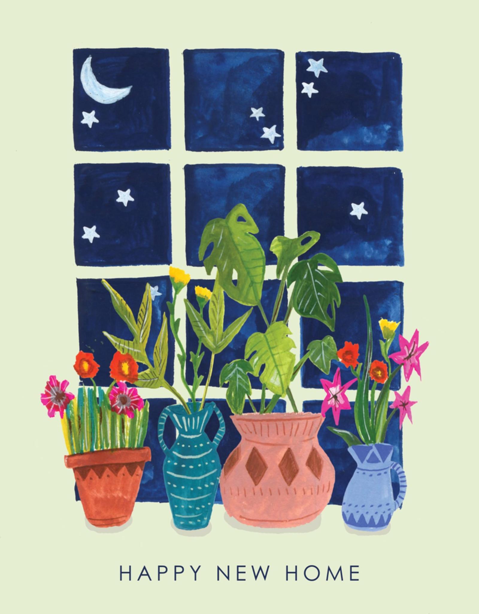 Plants On Windowsill Card