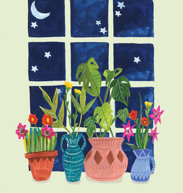 Plants On Windowsill Card