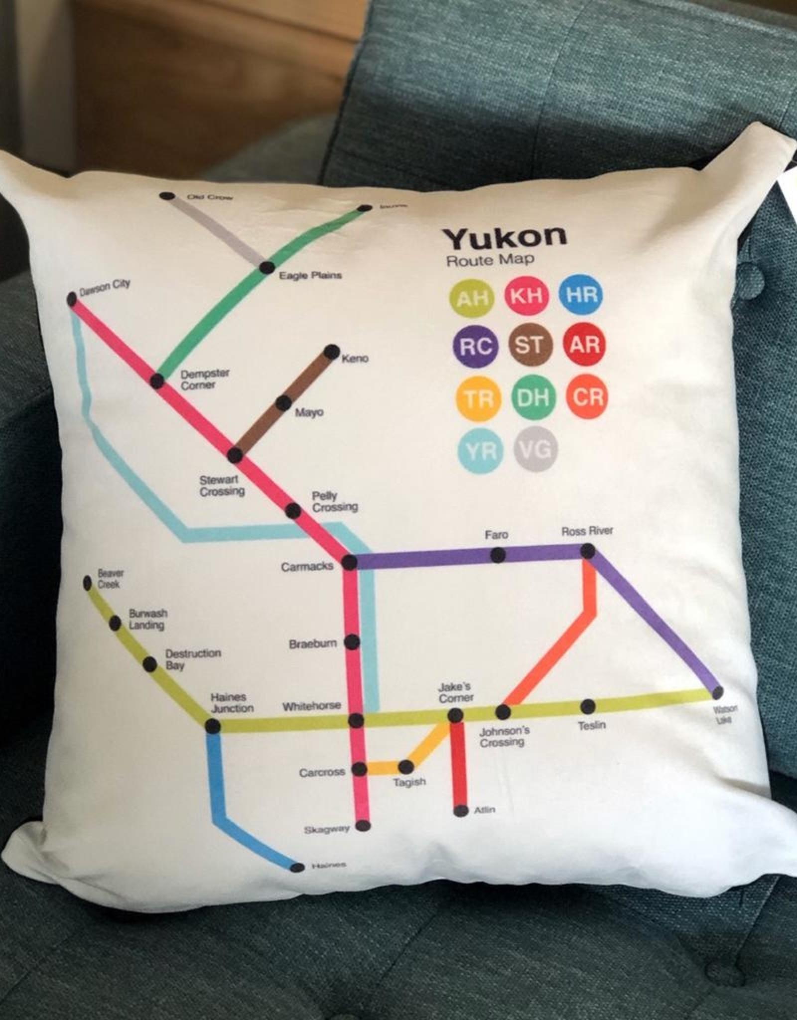 Yukon Route Map Pillow