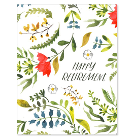Retirement Floral Card