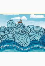 Waves Wedding Card