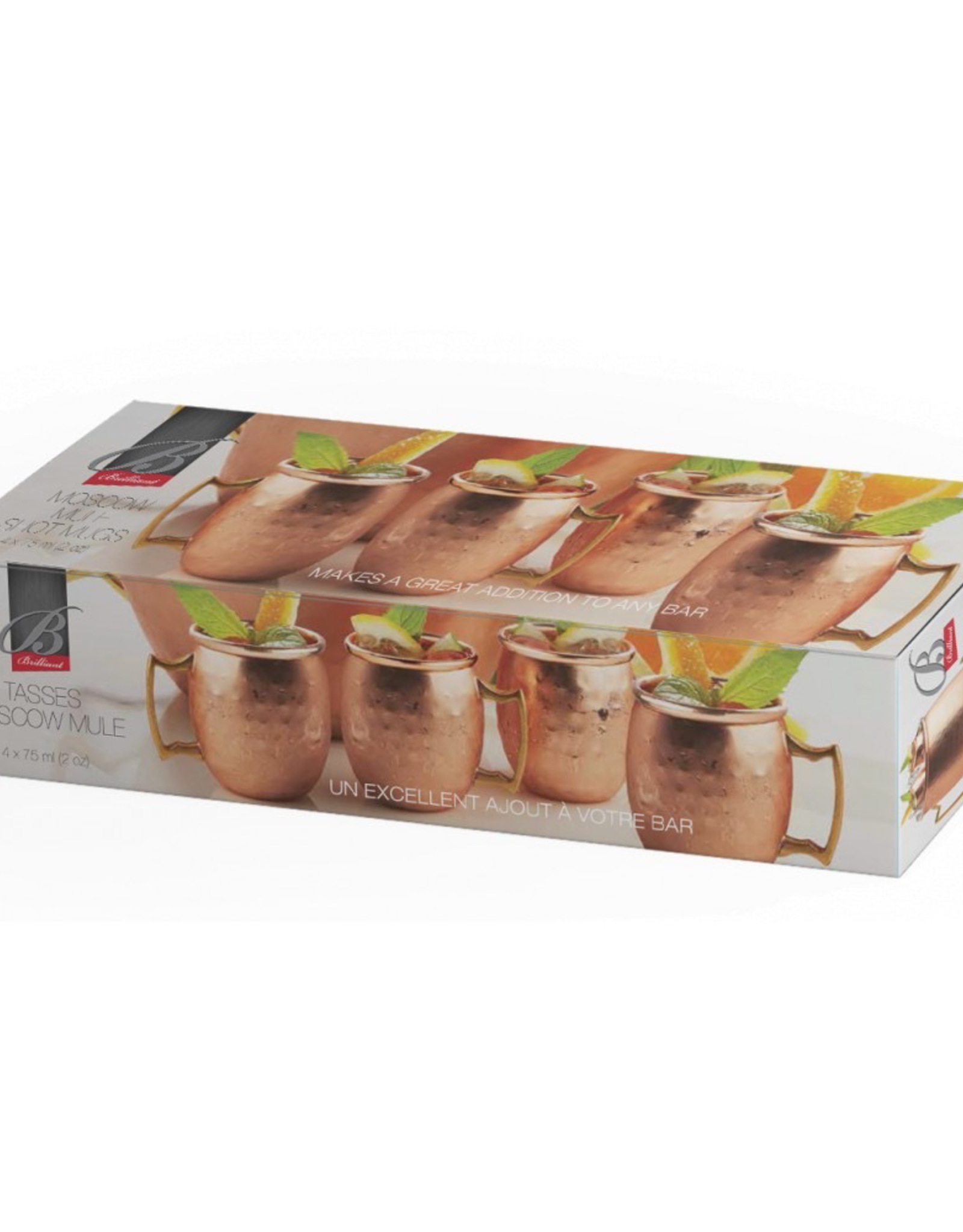 Moscow Mule Copper Belly Shot Glass-Set 4