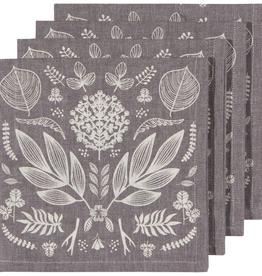 Laurel Print Napkins-Set 4