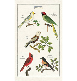 Cavallini Papers-Birds Tea Towel