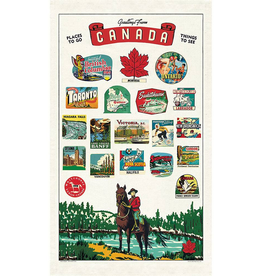 Cavallini Papers-Canada Tea Towel
