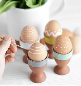 Terracotta Egg Cup Set 4-Sky