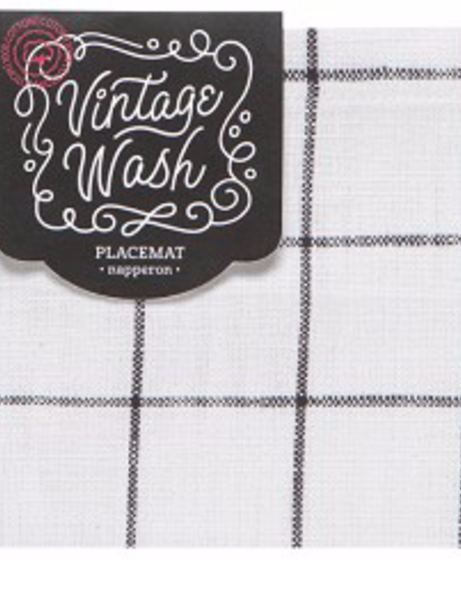 Vintage Wash Placemat-Black