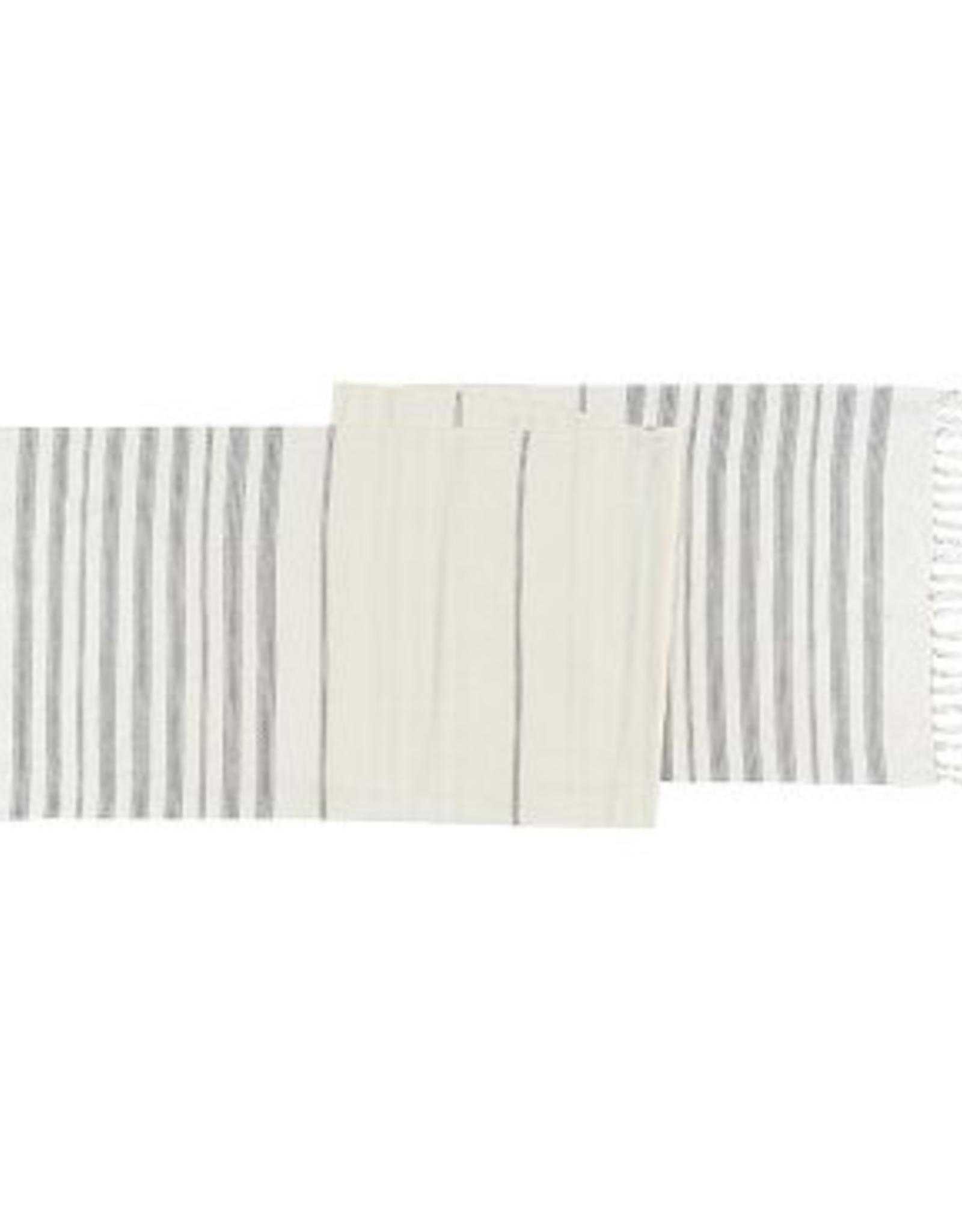 Terra Stripe Table Runner-Ivory