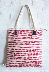 Hilary Barkcloth Tote - Red