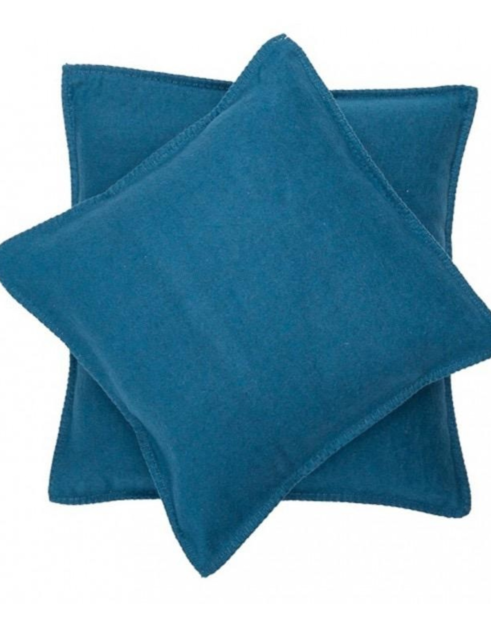 Blanket stitch cushion, atlantic
