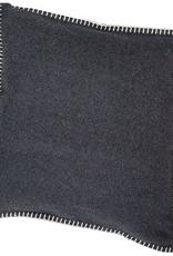 Blanket stitch cushion, anthracite